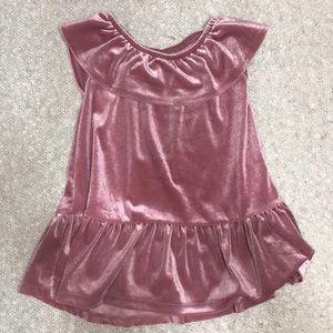 Old Navy, Infant, Pink, Velvet Dress